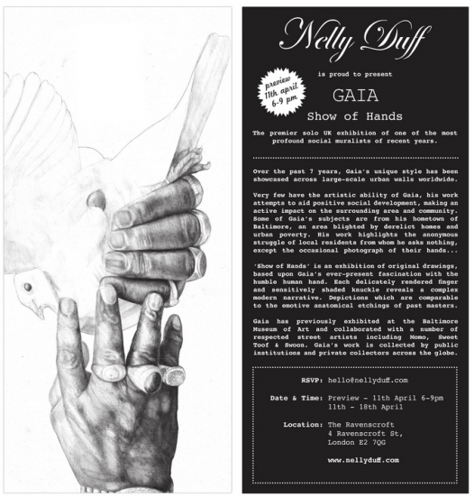 NELLY DUFF GAIA SHOWOFHANDS 526x551 Exhibition: Gaia 'A Show of Hands'