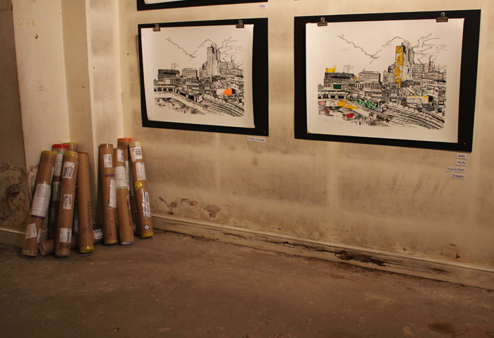Postal Tubes John Dolan exhibition photos