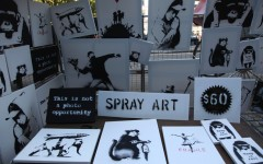 Banksy Stall Central Park Selling Canvas $60