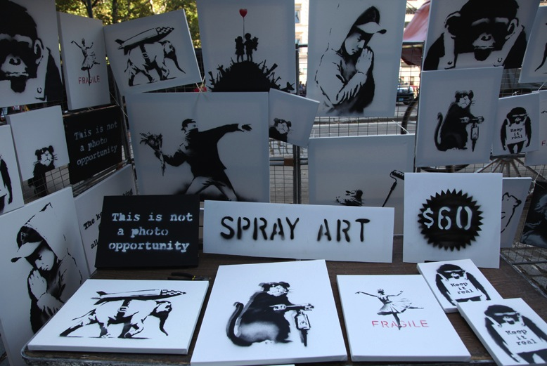 Banksy sells original canvas artworks in Central Park