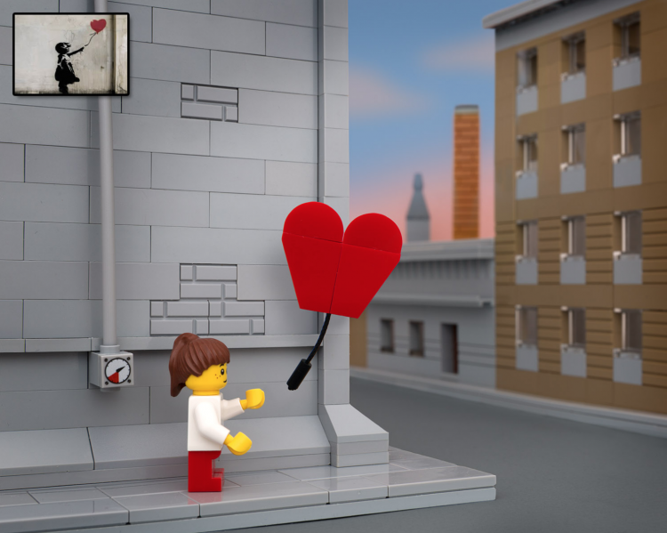 Screen Shot 2014 06 02 at 18.29.55 750x599 Classic Banksy pieces recreated in Lego by Jeff Friesen