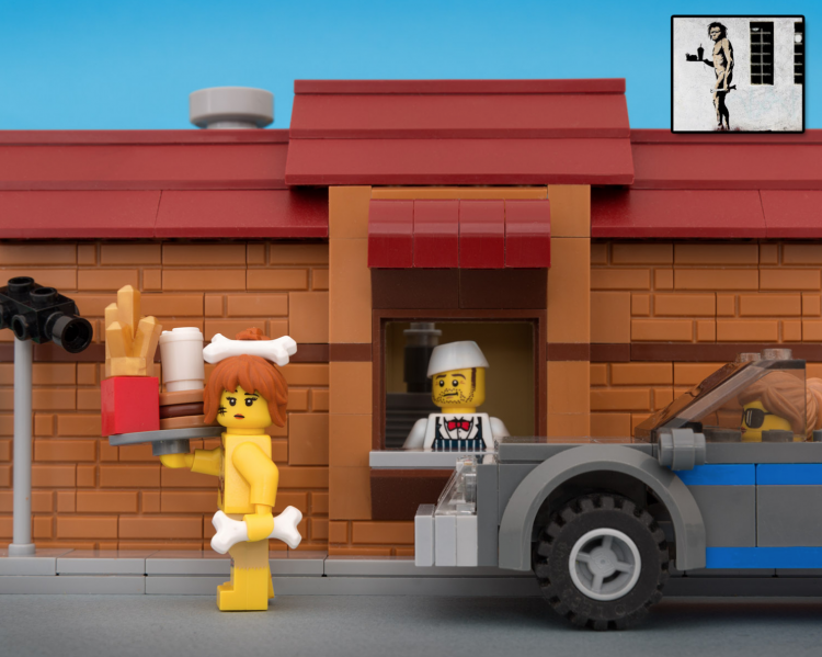 Classic Banksy pieces recreated in Lego by Jeff Friesen