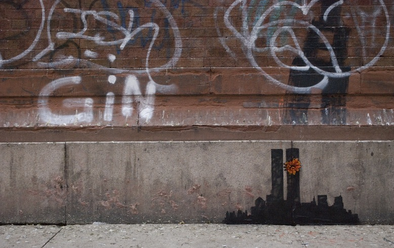 Banksy drops a Twin Towers homage in Tribeca