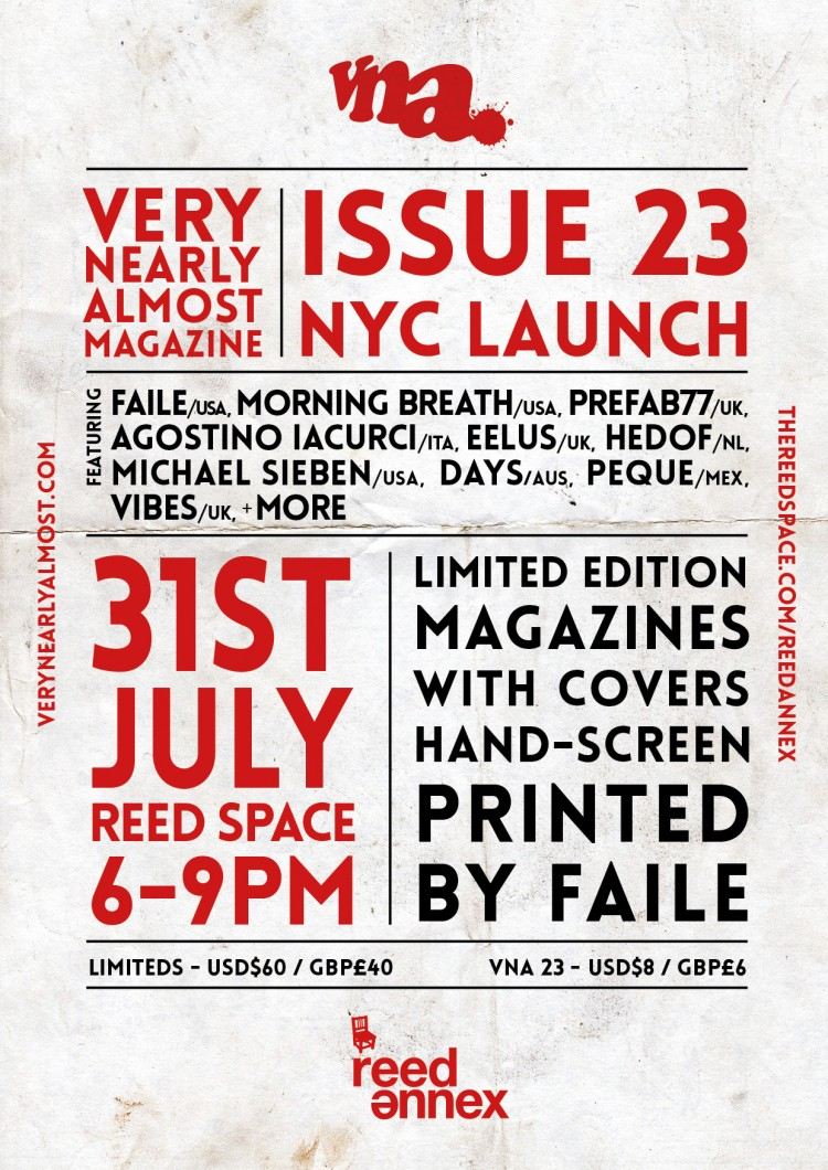 VNA Issue 23 - New York City Launch