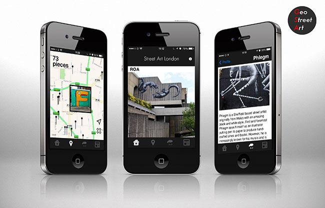 efddiech Street Art London relaunch their iPhone app with a brand new version