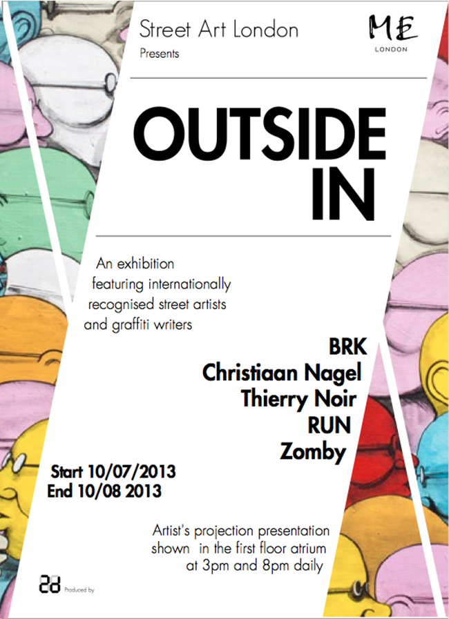 Outside In: Thierry Noir, BRK, RUN, Christiaan Nagel and Zomby on the Strand at ME London