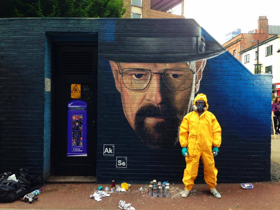 Breaking Bad graffiti in Manchester UK by Akse P19