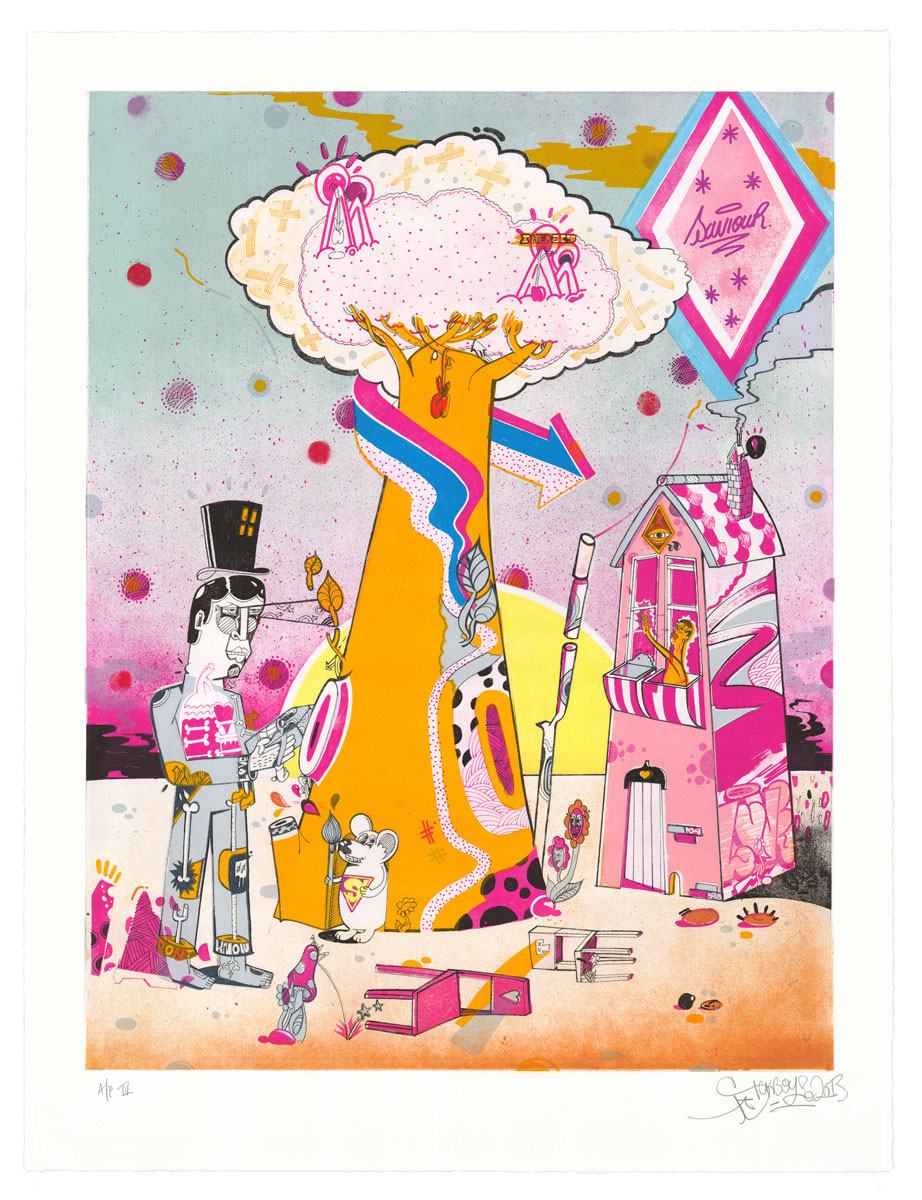 Sickboy - Garden of Memories print