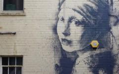 Banksy Earring Piece in Bristol Harbourside