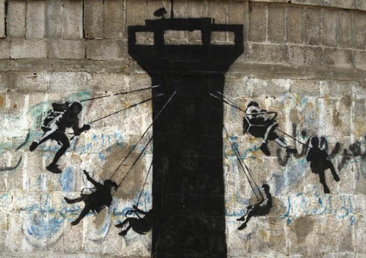 New Banksy artworks in Gaza