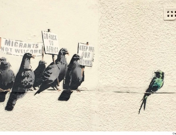 Banksy Clacton Migrant Birds Street Art