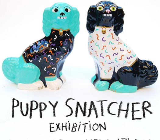 Malarky Puppy Snatcher Exhibition at Beach London