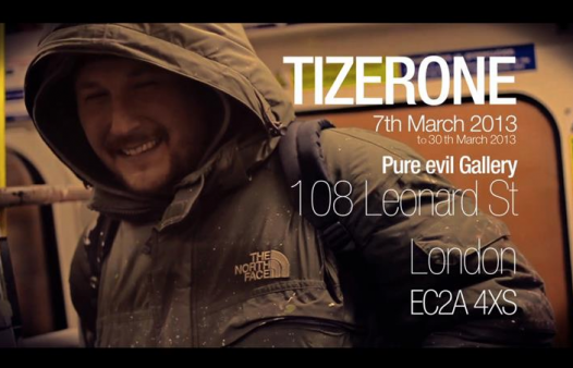 Exhibition: Tizerone at Pure Evil Gallery