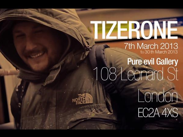TIZERONE at Pure Evil Gallery